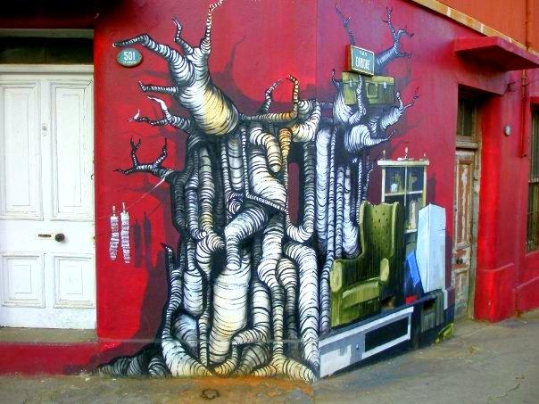 Valparaiso Street Art Tree