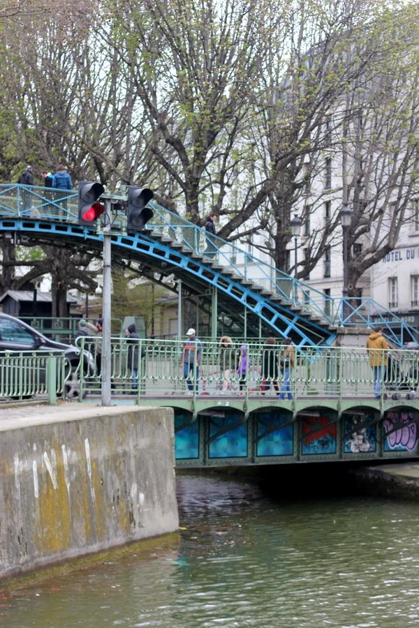 A iron bridge in Canal Saint-Martin, Paris