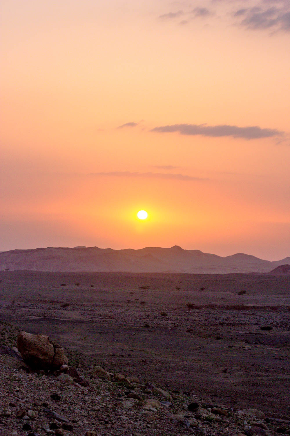Sunset in the Feynan Reserve