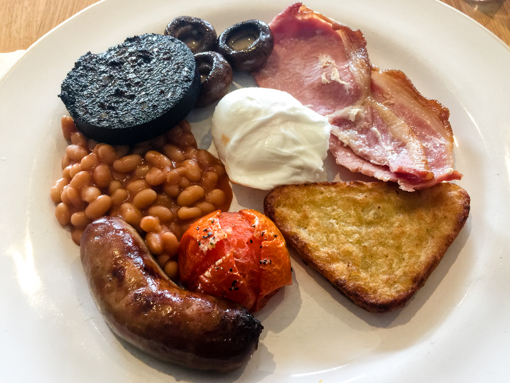 A typical breakfast on Hadrian's Wall Path