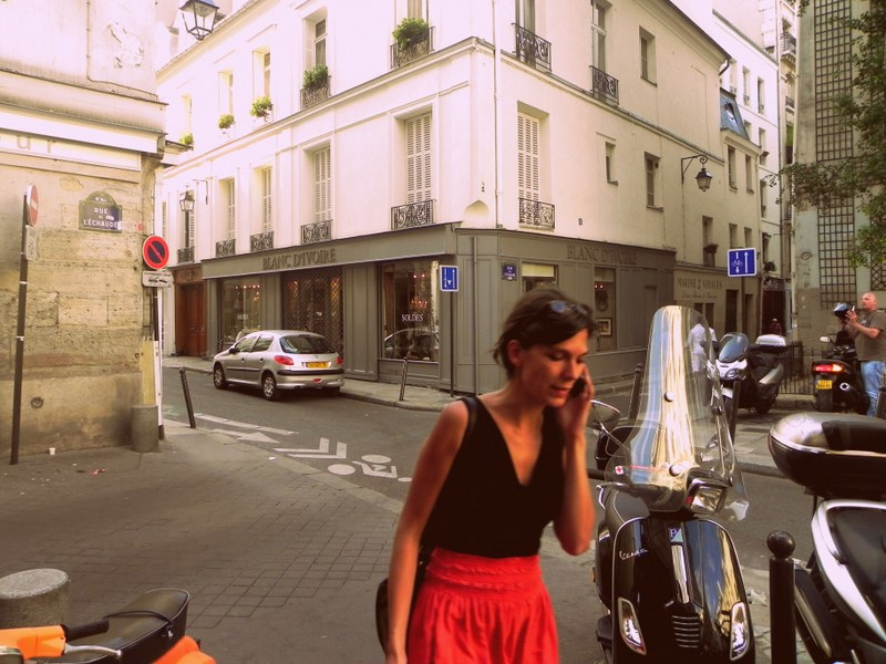 Thin French woman in Paris
