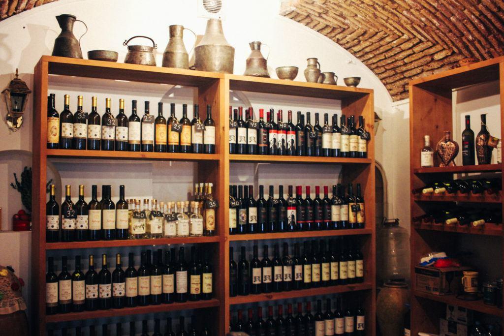 Georgian wine in Tbilisi