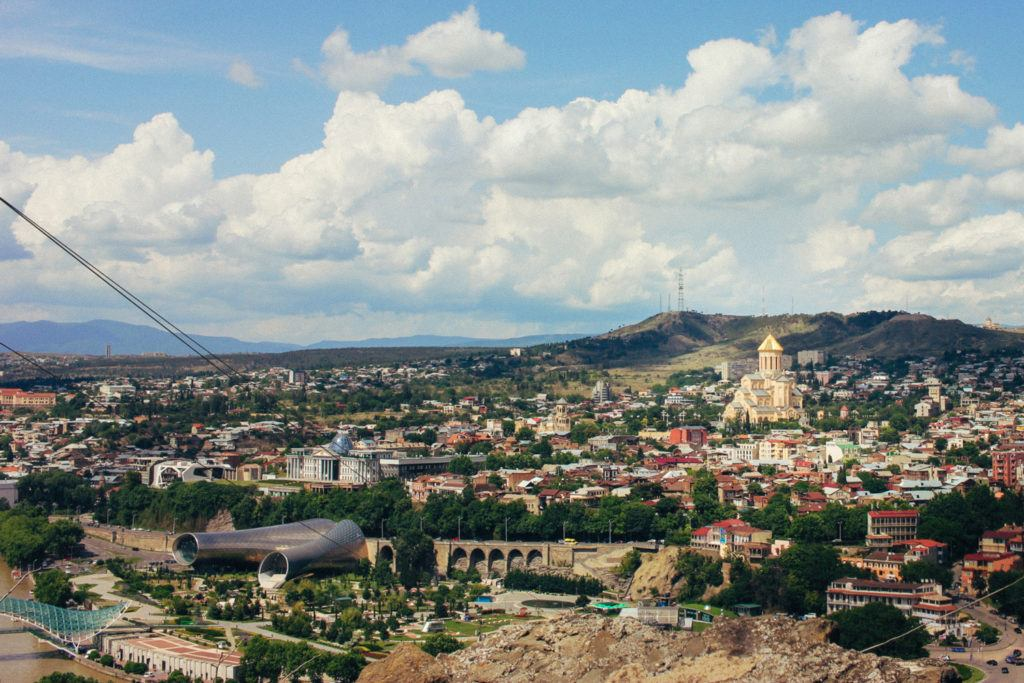 An expansive view of Tbilisi