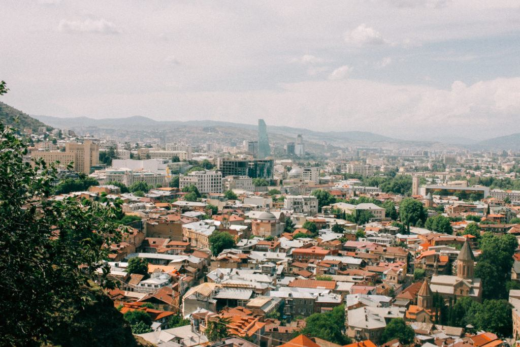 A panoramic view of Tbilisi