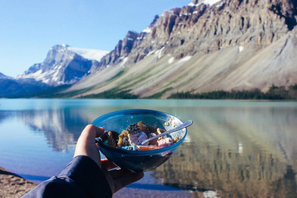 Beautiful breakfast in Banff