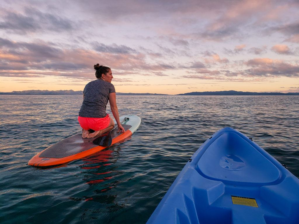 Stand-up paddleboarding in Fiji