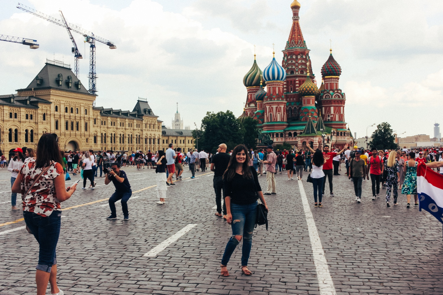 Visiting the Kremlin in Moscow, Russia